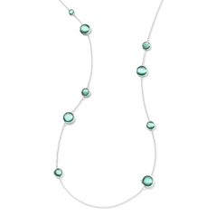Estate Ippolita Wonderland Lollipop Station Necklace in Mint Doublet
