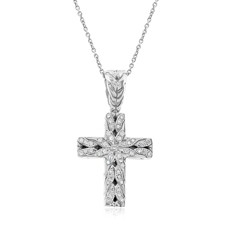 Estate John Hardy Diamond Cross Necklace
