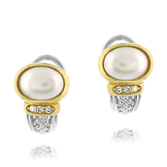 Estate Judith Ripka Pearl Earrings