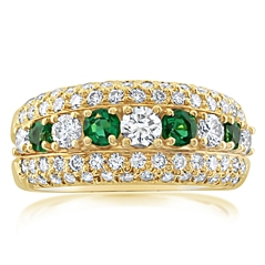 Estate Kurt Wayne Emerald & Diamond Ring