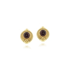 Estate Lagos Caviar Interchangable Earrings
