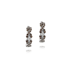 Estate Le Vian Chocolate & Vanilla Diamond Hoop Earrings