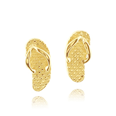 Estate Mini Flip Flop Stud Earrings