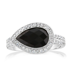 Estate Neil Lane Black Onyx & Diamond Ring