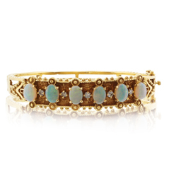 Estate Opal & Diamond Bracelet