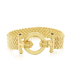 Estate Open Circle Link Bracelet