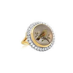 Estate Petri Finch Diamond Ring