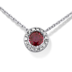 Estate Ruby & Diamond Pendant