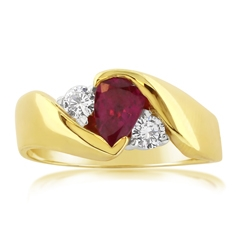 Estate Ruby & Diamond Ring