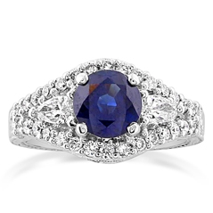 Estate Sapphire & Diamond Ring