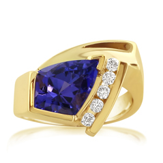 Estate Tanzanite & Diamond Ring