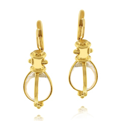 Estate Temple St. Clair Rock Crystal Earrings