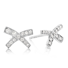 Estate Tiffany & Co. Paluma Diamond Stud Earrings