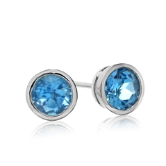 Estate Topaz Stud Earrings