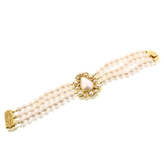 Estate Triple Row Pearl Bracelet