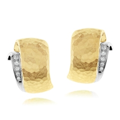 Estate Two Toned Diamond Earrings