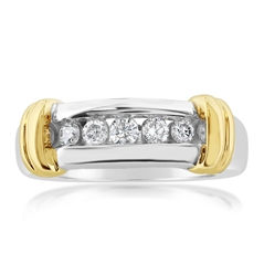 Estate Two Toned Diamond Ring