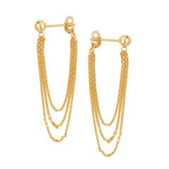 Fashion Stud & Chain Earrings