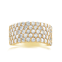Five Row Diamond Band