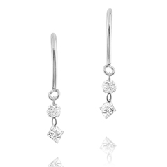 Floating Diamond Earrings