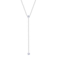 Floating Diamond lariat Necklace