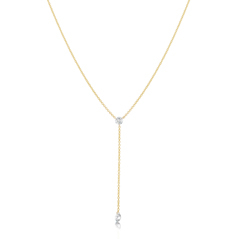 Floating Diamond Y Necklace