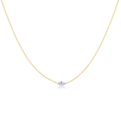 Floating Solitaire Diamond Necklace