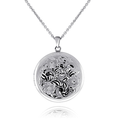 Floral Engraved Locket