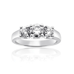 FOREVERMARK Complete .97 Carat Trellis Diamond Engagement Ring