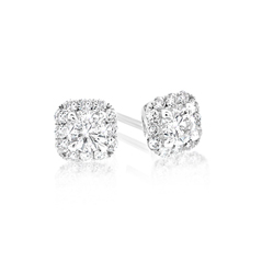 FOREVERMARK Diamond Halo Earrings