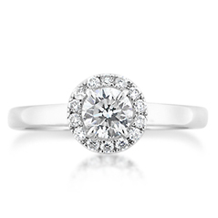 FOREVERMARK Halo Diamond Engagement Ring