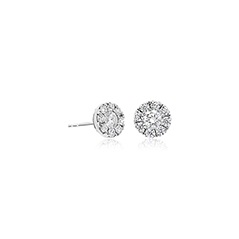 FOREVERMARK Halo Stud Earrings