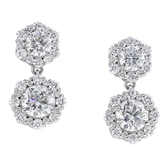 FOREVERMARK Integre Double Halo  Earrings
