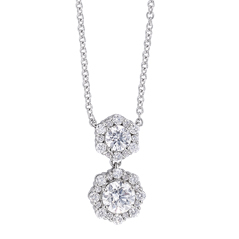 FOREVERMARK Integre Double Halo Necklace