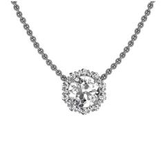 FOREVERMARK Integre Halo Necklace