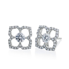 Forevermark Lotus Flower Diamond Earrings