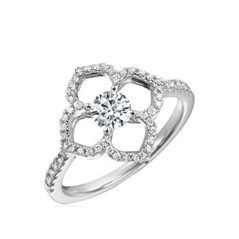 FOREVERMARK Lotus Flower Ring