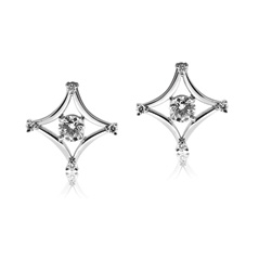 FOREVERMARK Modern Diamond Stud Earrings