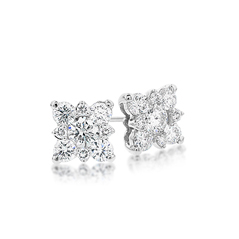 FOREVERMARK Snowflake Diamond Earrings