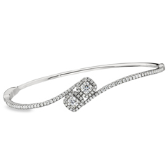FOREVERMARK Two Stone Diamond Bangle
