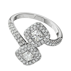 FOREVERMARK Two Stone Diamond Ring