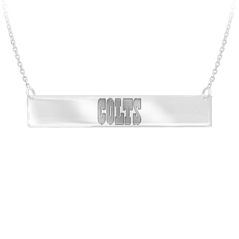 GO BLUE Colts Bar Necklace