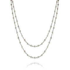 Grey Diamond Bead Necklace