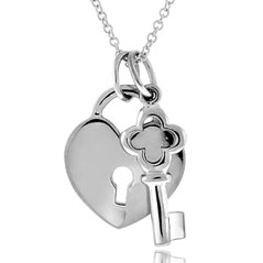 Heart & Key Pendant