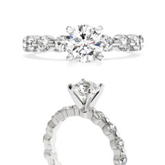 HEARTS ON FIRE Complete 1.05 Carat Multiplicity Diamond Engagement Ring