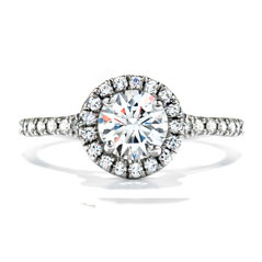 HEARTS ON FIRE Complete .73 Carat Transcend Single Halo Diamond Engagement Ring