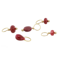 HEATHER B. MOORE July Ruby Birthstone Charms