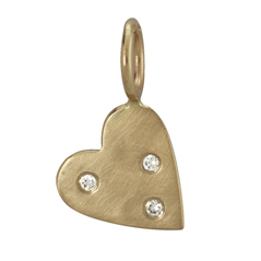 HEATHER B. MOORE Scattered Diamond Heart Charm