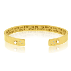HEATHER MOORE Script Diamond Cuff