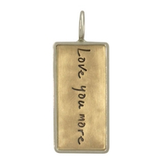 HEATHER MOORE Script ID Tag Charm